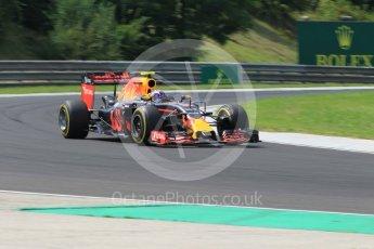 World © Octane Photographic Ltd. Red Bull Racing RB12 – Max Verstappen. Friday 22nd July 2016, F1 Hungarian GP Practice 2, Hungaroring, Hungary. Digital Ref : 1641CB1D6896