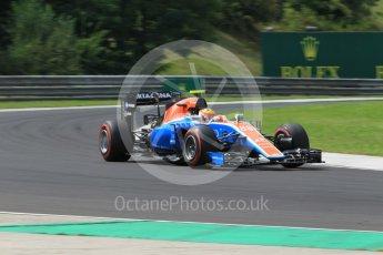 World © Octane Photographic Ltd. Manor Racing MRT05 – Rio Haryanto. Friday 22nd July 2016, F1 Hungarian GP Practice 2, Hungaroring, Hungary. Digital Ref : 1641CB1D6925