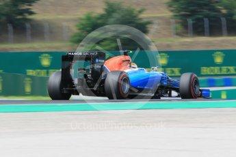 World © Octane Photographic Ltd. Manor Racing MRT05 – Rio Haryanto. Friday 22nd July 2016, F1 Hungarian GP Practice 2, Hungaroring, Hungary. Digital Ref : 1641CB1D6929