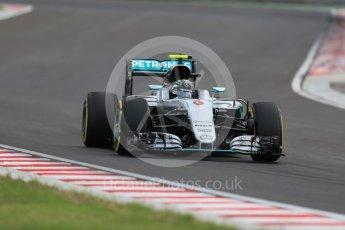 World © Octane Photographic Ltd. Mercedes AMG Petronas W07 Hybrid – Nico Rosberg. Friday 22nd July 2016, F1 Hungarian GP Practice 2, Hungaroring, Hungary. Digital Ref : 1641LB1D1681