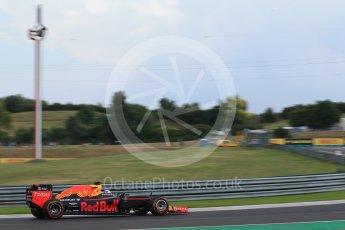 World © Octane Photographic Ltd. Red Bull Racing RB12 – Daniel Ricciardo. Friday 22nd July 2016, F1 Hungarian GP Practice 2, Hungaroring, Hungary. Digital Ref : 1641LB2D1381