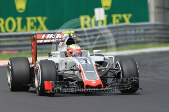 World © Octane Photographic Ltd. Haas F1 Team VF-16 - Esteban Gutierrez. Saturday 23rd July 2016, F1 Hungarian GP Practice 3, Hungaroring, Hungary. Digital Ref :1647CB1D7624