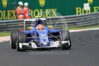 World © Octane Photographic Ltd. Sauber F1 Team C35 – Felipe Nasr. Saturday 23rd July 2016, F1 Hungarian GP Practice 3, Hungaroring, Hungary. Digital Ref :1647CB1D7628