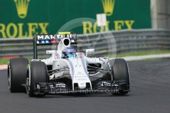 World © Octane Photographic Ltd. Williams Martini Racing, Williams Mercedes FW38 – Valtteri Bottas. Saturday 23rd July 2016, F1 Hungarian GP Practice 3, Hungaroring, Hungary. Digital Ref :1647CB1D7643
