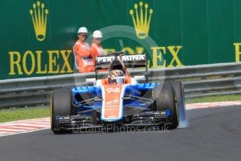 World © Octane Photographic Ltd. Manor Racing MRT05 - Pascal Wehrlein. Saturday 23rd July 2016, F1 Hungarian GP Practice 3, Hungaroring, Hungary. Digital Ref :1647CB1D7718