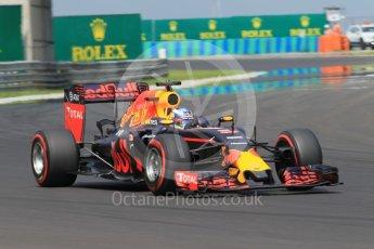 World © Octane Photographic Ltd. Red Bull Racing RB12 – Daniel Ricciardo. Saturday 23rd July 2016, F1 Hungarian GP Practice 3, Hungaroring, Hungary. Digital Ref :1647CB1D7876
