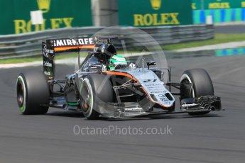 World © Octane Photographic Ltd. Sahara Force India VJM09 - Nico Hulkenberg. Saturday 23rd July 2016, F1 Hungarian GP Practice 3, Hungaroring, Hungary. Digital Ref :1647CB1D7946