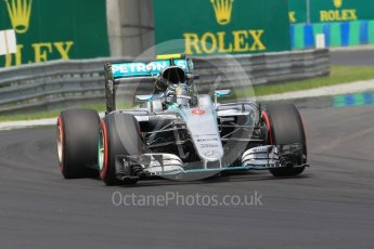 World © Octane Photographic Ltd. Mercedes AMG Petronas W07 Hybrid – Nico Rosberg. Saturday 23rd July 2016, F1 Hungarian GP Practice 3, Hungaroring, Hungary. Digital Ref :1647CB1D8081