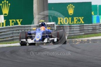 World © Octane Photographic Ltd. Sauber F1 Team C35 – Felipe Nasr. Saturday 23rd July 2016, F1 Hungarian GP Practice 3, Hungaroring, Hungary. Digital Ref :1647CB1D8134