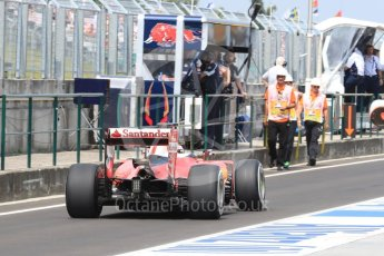 World © Octane Photographic Ltd. Scuderia Ferrari SF16-H – Kimi Raikkonen. Saturday 23rd July 2016, F1 Hungarian GP Practice 3, Hungaroring, Hungary. Digital Ref : 1647LB1D3046