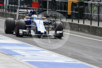 World © Octane Photographic Ltd. Sauber F1 Team C35 – Marcus Ericsson. Saturday 23rd July 2016, F1 Hungarian GP Practice 3, Hungaroring, Hungary. Digital Ref : 1647LB1D3178