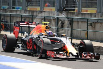 World © Octane Photographic Ltd. Red Bull Racing RB12 – Max Verstappen. Saturday 23rd July 2016, F1 Hungarian GP Practice 3, Hungaroring, Hungary. Digital Ref : 1647LB1D3661