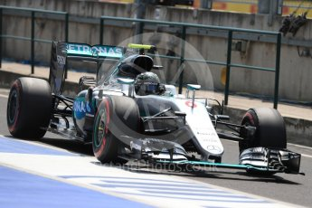 World © Octane Photographic Ltd. Mercedes AMG Petronas W07 Hybrid – Nico Rosberg. Saturday 23rd July 2016, F1 Hungarian GP Practice 3, Hungaroring, Hungary. Digital Ref : 1647LB1D3736