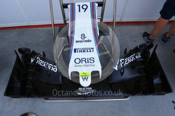 World © Octane Photographic Ltd. Williams Martini Racing, Williams Mercedes FW38. Saturday 23rd July 2016, F1 Hungarian GP Practice 3, Hungaroring, Hungary. Digital Ref : 1647LB2D9981