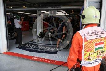 World © Octane Photographic Ltd. Red Bull Racing RB12 – Max Verstappen. Saturday 23rd July 2016, F1 Hungarian GP Practice 3, Hungaroring, Hungary. Digital Ref : 1647LB2D9989