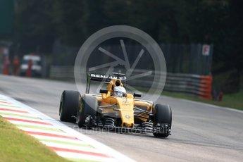 World © Octane Photographic Ltd. Renault Sport F1 Team RS16 - Kevin Magnussen. Friday 2nd September 2016, F1 Italian GP Practice 1, Monza, Italy. Digital Ref :1697LB1D4511
