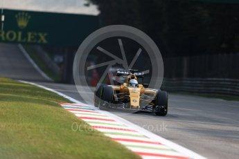World © Octane Photographic Ltd. Renault Sport F1 Team RS16 - Kevin Magnussen. Friday 2nd September 2016, F1 Italian GP Practice 1, Monza, Italy. Digital Ref :1697LB1D5079