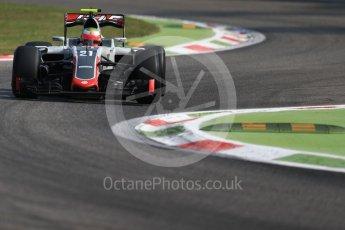 World © Octane Photographic Ltd. Haas F1 Team VF-16 - Esteban Gutierrez. Friday 2nd September 2016, F1 Italian GP Practice 1, Monza, Italy. Digital Ref :1697LB1D5624