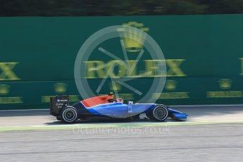 World © Octane Photographic Ltd. Manor Racing MRT05 – Esteban Ocon. Friday 2nd September 2016, F1 Italian GP Practice 1, Monza, Italy. Digital Ref :1697LB2D5535
