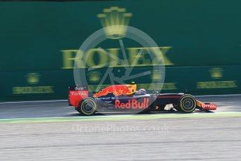 World © Octane Photographic Ltd. Red Bull Racing RB12 – Max Verstappen. Friday 2nd September 2016, F1 Italian GP Practice 1, Monza, Italy. Digital Ref :1697LB2D5546