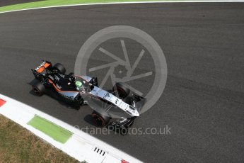 World © Octane Photographic Ltd. Sahara Force India VJM09 - Nico Hulkenberg. Friday 2nd September 2016, F1 Italian GP Practice 2, Monza, Italy. Digital Ref : 1699LB2D6145