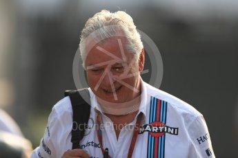 World © Octane Photographic Ltd. Williams Martini Racing Chief Technical Officer – Pat Symonds. Saturday 3rd September 2016, F1 Italian GP Paddock, Monza, Italy. Digital Ref :1696LB1D7030