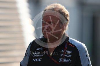 World © Octane Photographic Ltd. Sahara Force India Deputy Team Principal - Bob Fernley. Saturday 3rd September 2016, F1 Italian GP Paddock, Monza, Italy. Digital Ref :1696LB1D7133