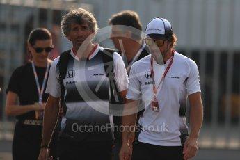 World © Octane Photographic Ltd. McLaren Honda MP4-31 – Fernando Alonso. Saturday 3rd September 2016, F1 Italian GP Paddock, Monza, Italy. Digital Ref :1696LB1D7189