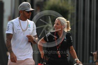 World © Octane Photographic Ltd. Mercedes AMG Petronas W07 Hybrid – Lewis Hamilton. Saturday 3rd September 2016, F1 Italian GP Paddock, Monza, Italy. Digital Ref :1696LB1D7391