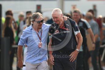 World © Octane Photographic Ltd. Carlos Sainz Snr and Scuderia Toro Rosso - John Booth. Sunday 4th September 2016, F1 Italian GP Paddock, Monza, Italy. Digital Ref :1708LB1D9546