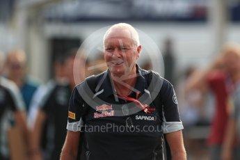 World © Octane Photographic Ltd. Scuderia Toro Rosso - John Booth. Sunday 4th September 2016, F1 Italian GP Paddock, Monza, Italy. Digital Ref :1708LB1D9556