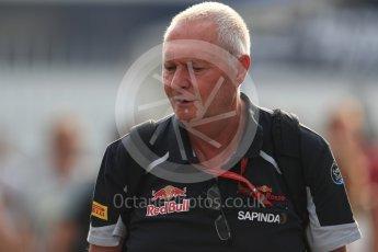 World © Octane Photographic Ltd. Scuderia Toro Rosso - John Booth. Sunday 4th September 2016, F1 Italian GP Paddock, Monza, Italy. Digital Ref :1708LB1D9562
