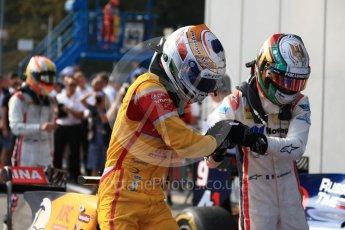 World © Octane Photographic Ltd. Prema Racing - GP2/11 – Antonia Giovinazzi and Russian Time – Raffaele Marciello. Saturday 3rd September 2016, GP2 Race 1 Parc Ferme, Monza, Italy. Digital Ref :1700LB2D6679
