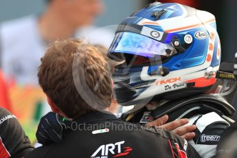 World © Octane Photographic Ltd. ART Grand Prix – GP3/16 – Nyck de Vries Sunday 4th September 2016, GP3 Race 2 Parc Ferme, Spa-Francorchamps, Belgium. Digital Ref :1703LB1D9677