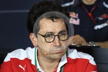 World © Octane Photographic Ltd. F1 Italian GP FIA Personnel Press Conference, Monza, Italy. Friday 2nd September 2016. Mattia Binotto – Chief Technical Officer Scuderia Ferrari. Digital Ref : 1701LB1D6641