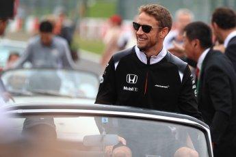 World © Octane Photographic Ltd. McLaren Honda MP4-31 – Jenson Button. Sunday 9th October 2016, F1 Japanese GP - Drivers' parade, Suzuka Circuit, Suzuka, Japan. Digital Ref :1735LB1D7043