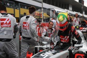 World © Octane Photographic Ltd. Haas F1 Team VF-16 - Esteban Gutierrez. Sunday 9th October 2016, F1 Japanese GP - Grid, Suzuka Circuit, Suzuka, Japan. Digital Ref :1735LB1D7222