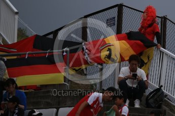 World © Octane Photographic Ltd. Scuderia Ferrari fans. Saturday 8th October 2016, F1 Japanese GP - Practice 3, Suzuka Circuit, Suzuka, Japan. Digital Ref : 1732LB2D3290