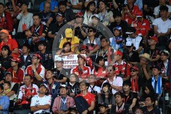 World © Octane Photographic Ltd. Fans. Saturday 8th October 2016, F1 Japanese GP - Practice 3, Suzuka Circuit, Suzuka, Japan. Digital Ref : 1732LB2D3618