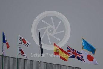 World © Octane Photographic Ltd. Flags. Saturday 8th October 2016, F1 Japanese GP - Qualifying. Suzuka Circuit, Suzuka, Japan. Digital Ref : 1733LB1D6465