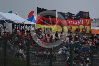 World © Octane Photographic Ltd. Scuderia Ferrari Sebastian Vettel fans. Saturday 8th October 2016, F1 Japanese GP - Qualifying, Suzuka Circuit, Suzuka, Japan. Digital Ref : 1733LB1D6690