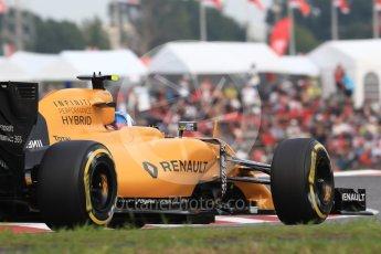 World © Octane Photographic Ltd. Renault Sport F1 Team RS16 – Jolyon Palmer. Saturday 8th October 2016, F1 Japanese GP - Qualifying, Suzuka Circuit, Suzuka, Japan. Digital Ref : 1733LB1D6723