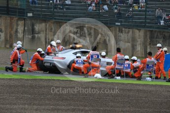 World © Octane Photographic Ltd. Marshals do a pit stop on the safety car. Saturday 8th October 2016, F1 Japanese GP - Qualifying, Suzuka Circuit, Suzuka, Japan. Digital Ref : 1733LB2D3749