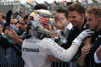 World © Octane Photographic Ltd. Mercedes AMG Petronas W07 Hybrid – Lewis Hamilton. Sunday 9th October 2016, F1 Japanese GP - Parc Ferme. Suzuka Circuit, Suzuka, Japan. Digital Ref :1737LB1D8174