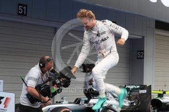 World © Octane Photographic Ltd. Mercedes AMG Petronas W07 Hybrid – Nico Rosberg. Sunday 9th October 2016, F1 Japanese GP - Parc Ferme. Suzuka Circuit, Suzuka, Japan. Digital Ref :1737LB1D8282
