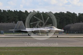 "World © Octane Photographic Ltd. 3rd May 2016 RAF Lakenheath, USAF (United States Air Force) 325th Operations Group, 95th Fighter Squadron ""Boneheads"", Lockheed-Martin F-22 Raptor. Digital Ref : 1531CB1D9898"