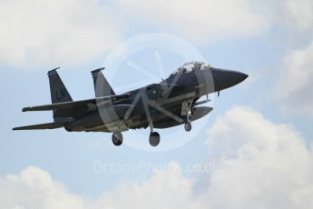"World © Octane Photographic Ltd. 3rd May 2016 RAF Lakenheath, USAF (United States Air Force) 48th Fighter Wing ""Statue of Liberty Wing"" 492 Fighter Squadron ""Mad Hatters"", McDonnell Douglas F-15E Strike Eagle. Digital Ref : 1531CB1L0834"