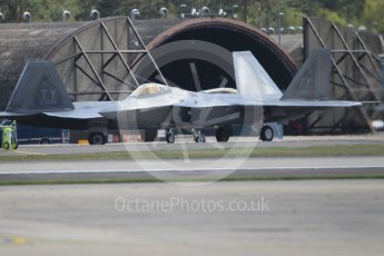 "World © Octane Photographic Ltd. 3rd May 2016 RAF Lakenheath, USAF (United States Air Force) 325th Operations Group, 95th Fighter Squadron ""Boneheads"", Lockheed-Martin F-22 Raptor. Digital Ref :1531CB1L1459"