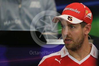 World © Octane Photographic Ltd. F1 Monaco GP FIA Drivers' Press Conference, Monaco, Monte Carlo, Wednesday 25th May 2016. Scuderia Ferrari – Sebastian Vettel. Digital Ref : 1560LB1D4506