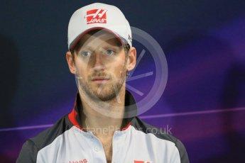 World © Octane Photographic Ltd. F1 Monaco GP FIA Drivers' Press Conference, Monaco, Monte Carlo, Wednesday 25th May 2016. Haas F1 Team – Romain Grosjean. Digital Ref : 1560LB1D4659